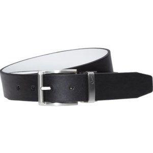 Nike Swoosh Keeper Reversible Belt Black White